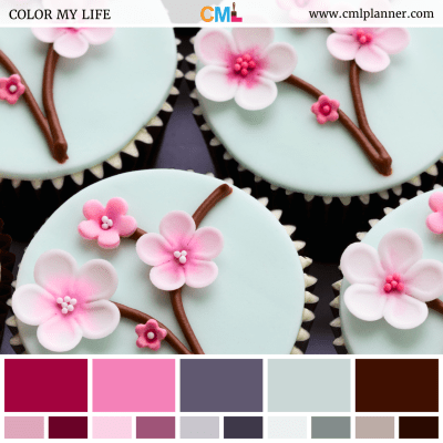 Cherry Blossom Cupcakes - Color Inspiration from Color My Life