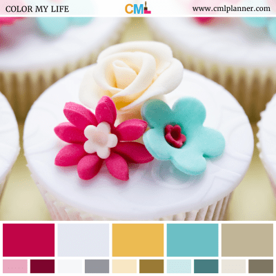 Cupcake Bloom - Color Inspiration from Color My Life