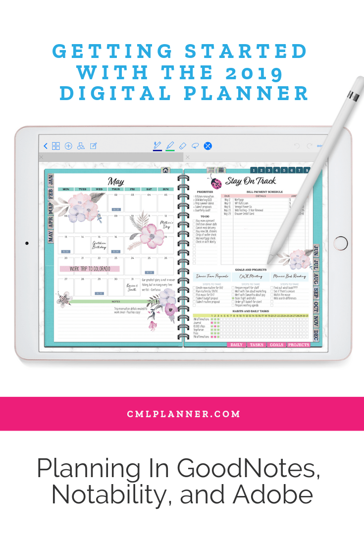 You're probably here because you saw something online about the new 2019 Digital Planner from Color My Life and decided to check it out. Well, first of all, you're in the right place! I'm going to tell you all about the new digital planner, how to get started using it, and why digital planning can up your productivity game. Read more at cmlplanner.com/getting-started-with-the-2019-digital-planner.