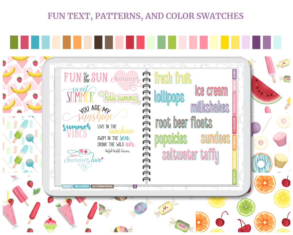 The biggest, sweetest sticker set of the summer has finally arrived! Decorate your digital planner, bullet journal, or notebook with this massive set of over 1,400 precropped, transparent PNG stickers. Plus, save a ton of time with the included Goodnotes sticker book! Get it at cmlplanner.com.