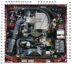 1987 to 1993 Fox Mustang 50L Engine Diagram  Canadian