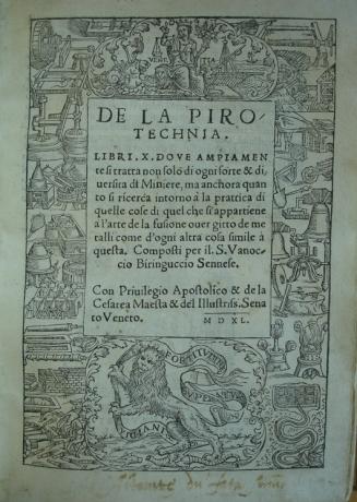 De la pirotechnia by Biringucci. Bib. #93699