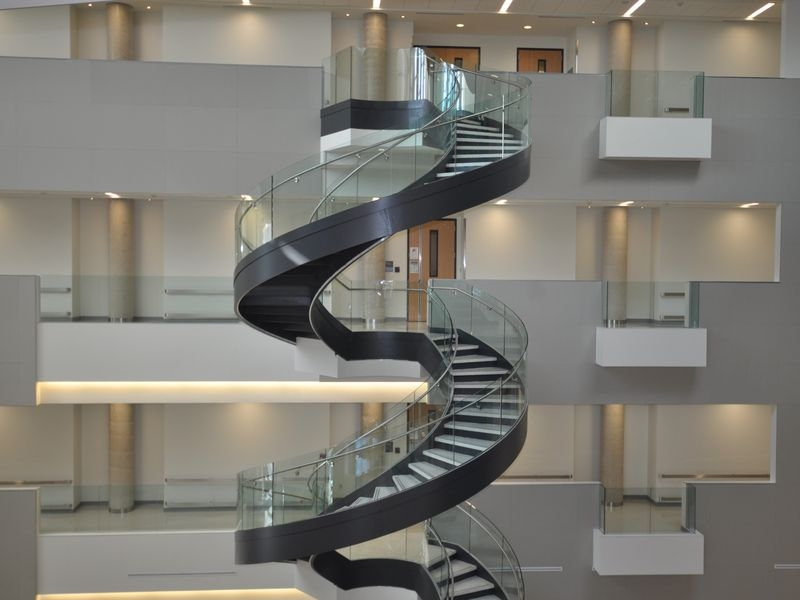 Curved Stair Stringer Custom Stair Stringer Spiral Staircase | Circular Stairs For Sale | Shop | Glass | Wooden | Modern | Wrought Iron