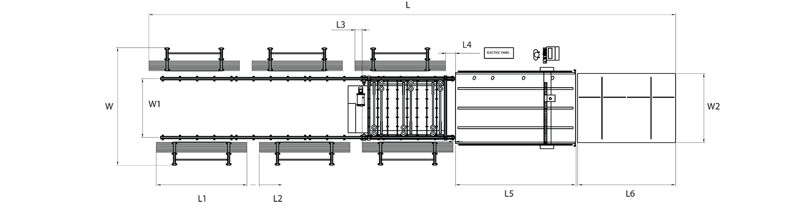 EML-electromagnetic-linear-motor-driven-automatic-glass-cutting-line-Layout