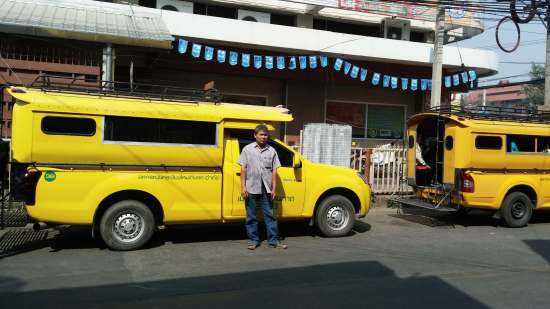 Yellow Truck at Chiang Mai Gate