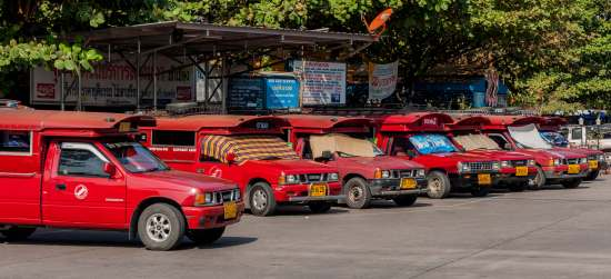 Red Trucks in Chiang Mai