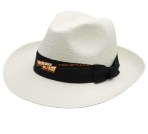 Print on ribbon of fedora hat classic