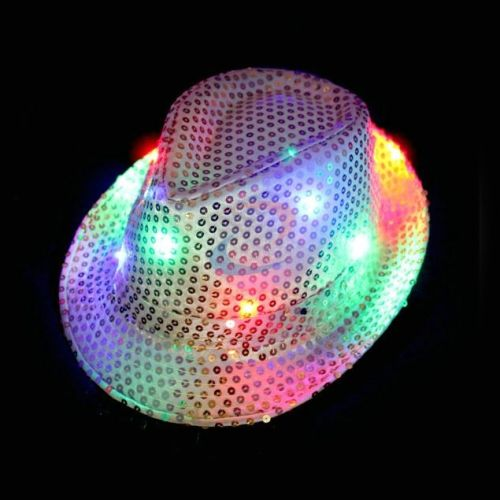 led fedora hat