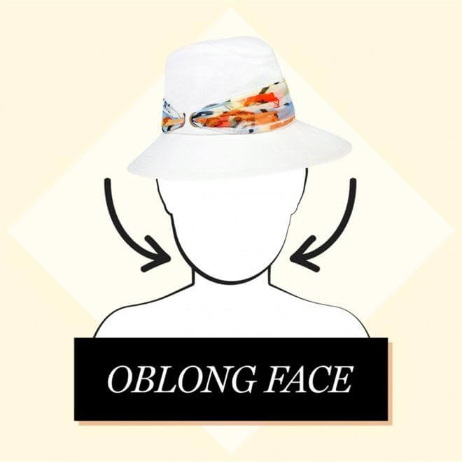 oblong face