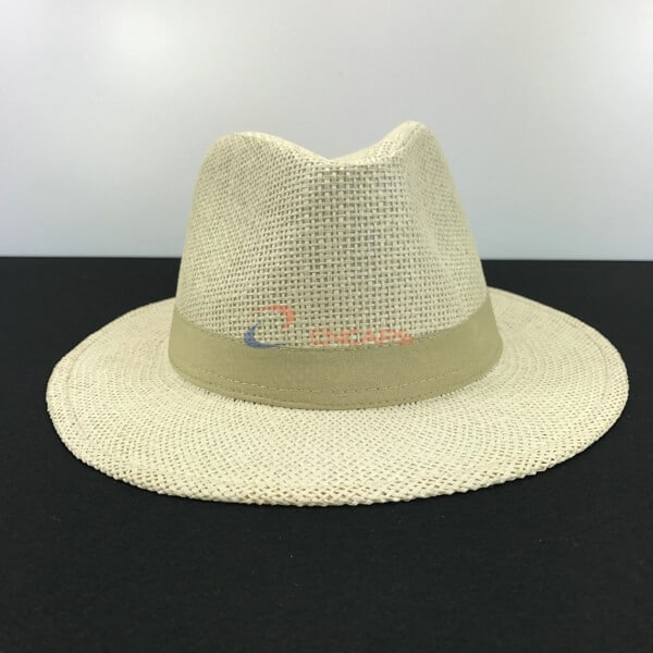 beige fedora hat manufacturer