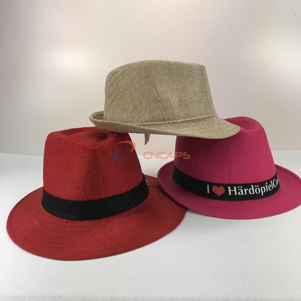 linen fedora hat
