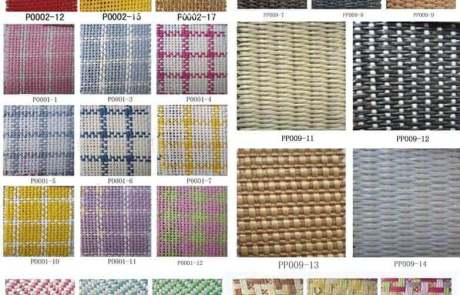 Straw fabric swatch
