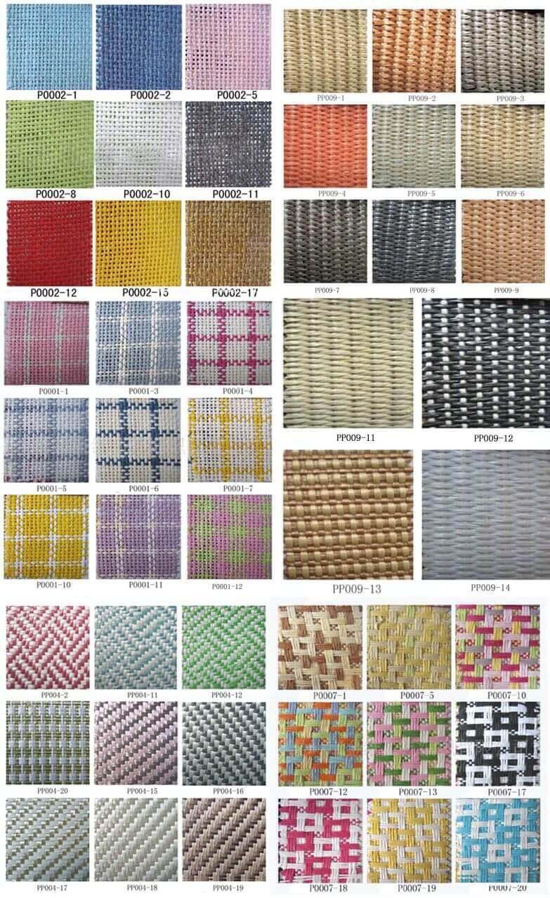 Straw fabric swatch