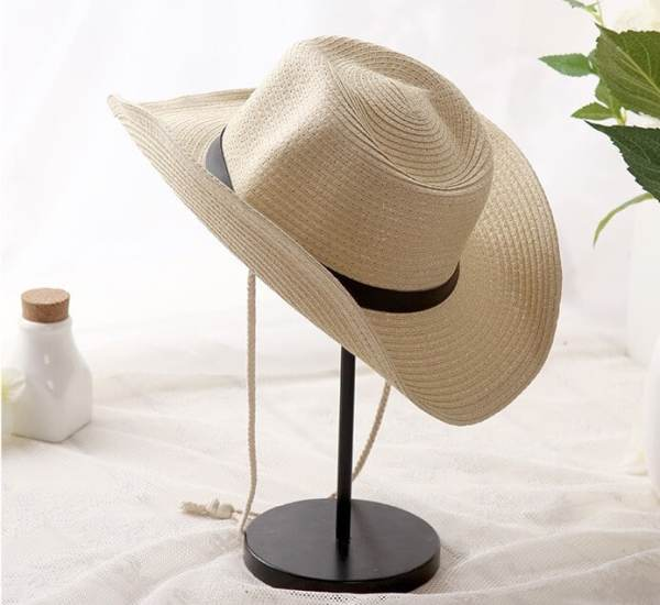paper straw cowboy hat