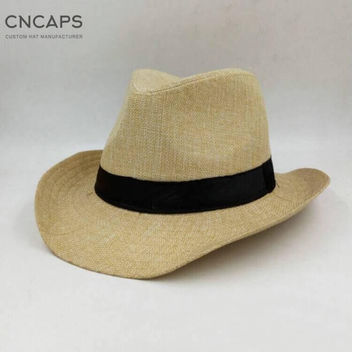 Western cowboy hat beige color