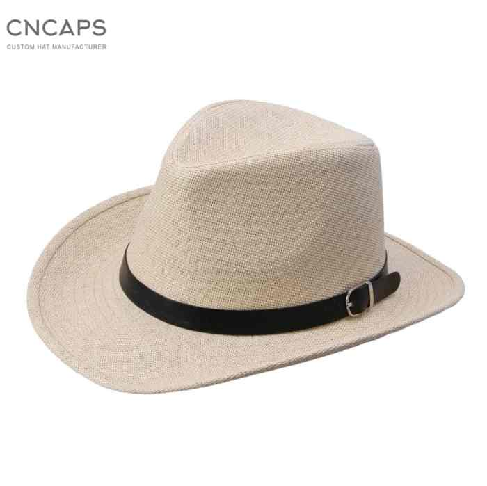 men cowboy hat straw hat