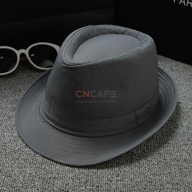 grey classic fedora hat