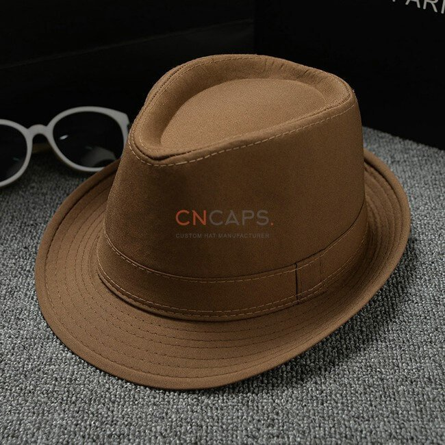 brown classic fedora hat