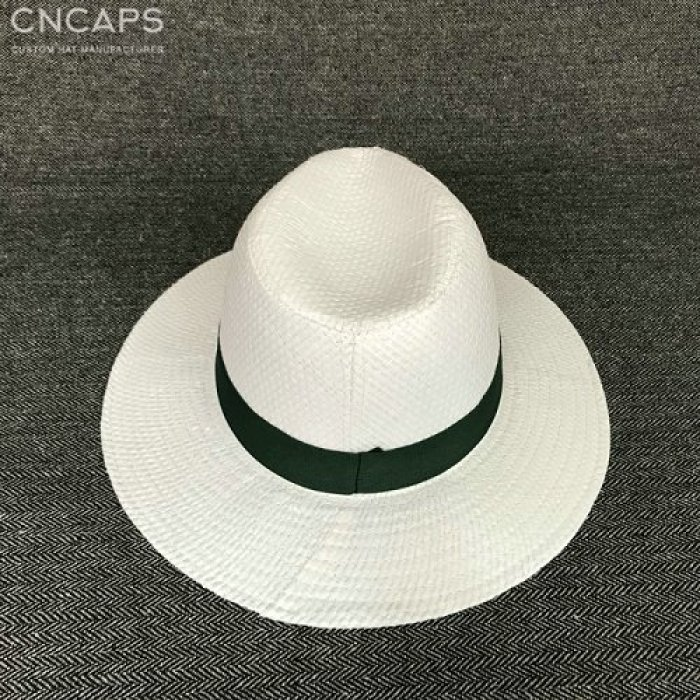 custom panama hat logo