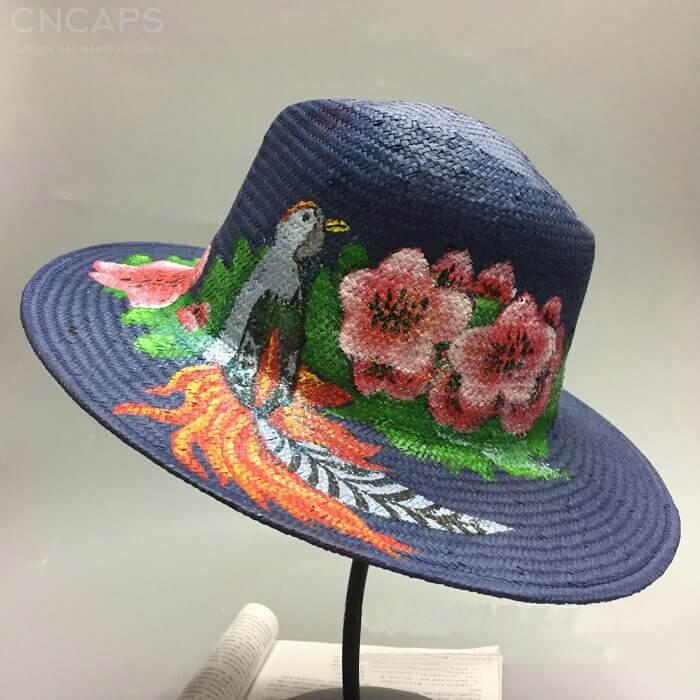 5cf904b707657 wholesale Panama hat 100% handmade w  hand painting drawing wide ...