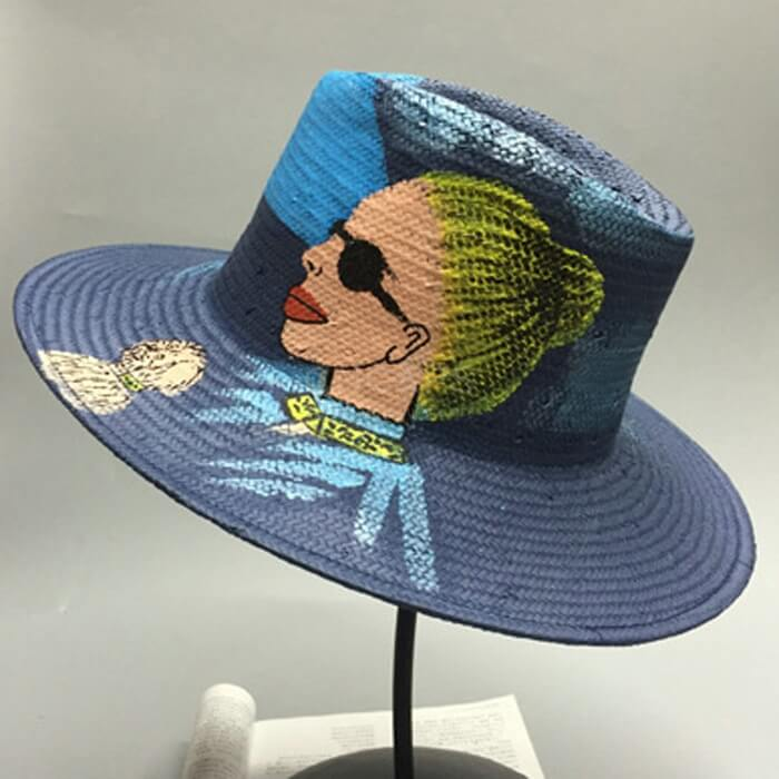 b5b8d81f Wholesale straw hat with painting drawing art hand made 100% - CNCAPS