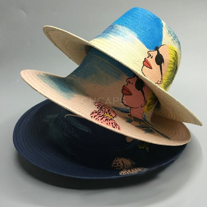 straw hat painting