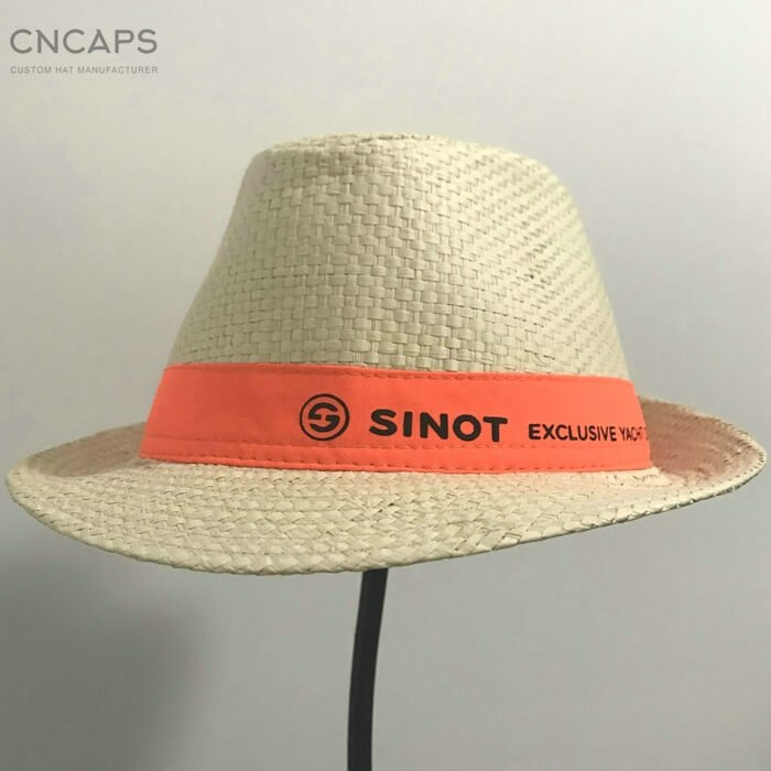 1d690cab Men's Fedora Straw Hat for YACHT / TRAVEL Custom Design - CNCAPS