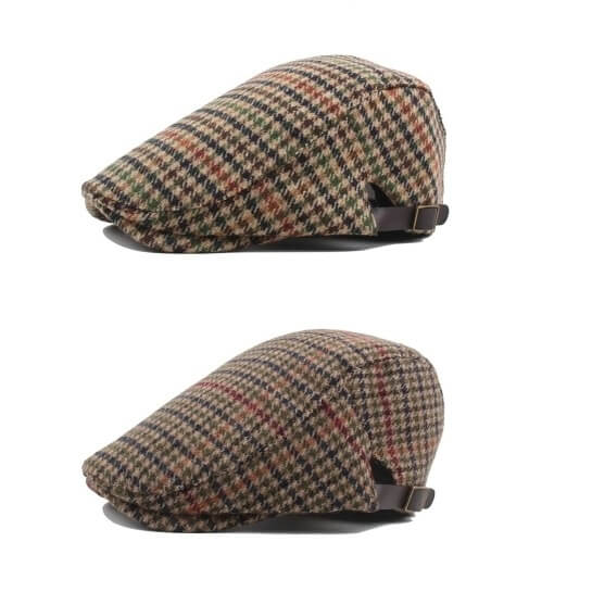 262957e1049 Vintage wool blend plaid check ivy cap flat hat - CNCAPS