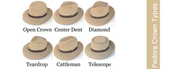 fedora crown types