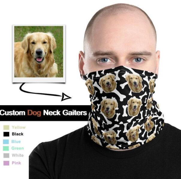 dog custom neck gaiter buff19
