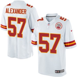 Kansas City Chiefs #57 D.J. Alexander White NFL Elite Jersey