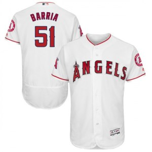 Angels of Anaheim #51 Jaime Barria White Flexbase  wholesale Schwarber jersey women