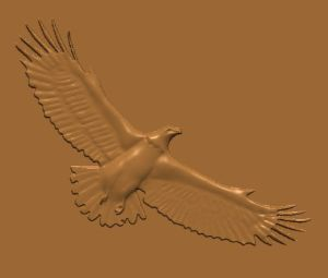 this is an image of a free eagle cnc pattern with a side view.