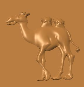 this is a side view image of a free cnc pattern of a camel.