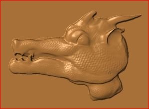 this is an image of a free dragon head cnc pattern.