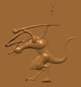 this is an image of free cnc pattern of a dragon.