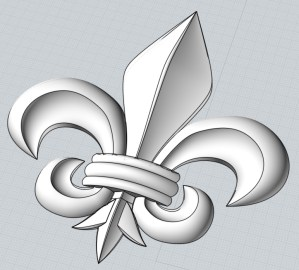this is an image of a fleur delis tutorial for cnc pattern making