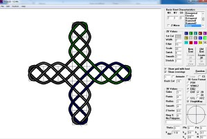 this is an image for the celtic knot 3d pattern creation software.