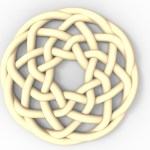 This is an image of a circular cnc pattern for a Celtic knot design