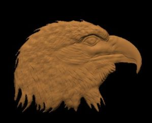 a free cnc pattern / model of a eagle head for carvewright compucarve shopbot shark cnc machines