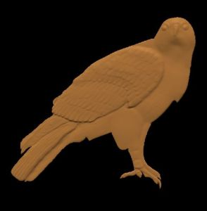 a free cnc pattern / model of a red tail hawk for carvewright compucarve shopbot shark cnc machines
