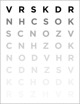 Pelli-Robinson Chart