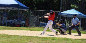 Jerry Russell hitting against the Rebels 7/26/2020
