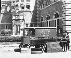Campbell's Merit Bread Company delivery truck