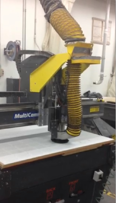 Used MultiCam 3 Axis CNC Router C394
