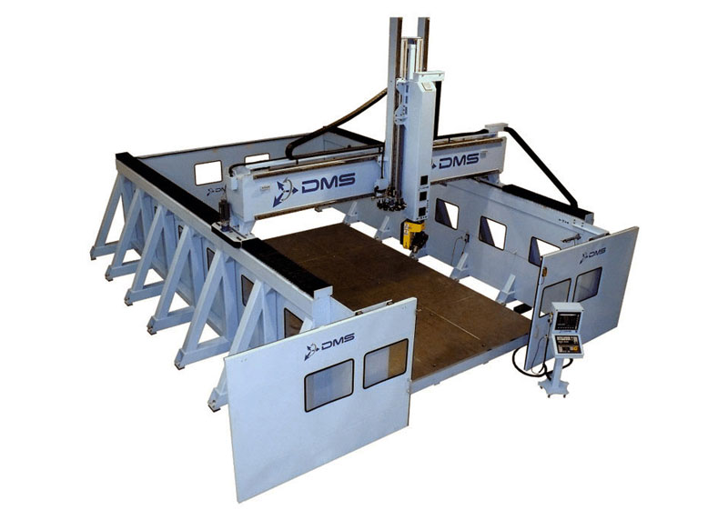 DMS 5 Axis Large Format Overhead Gantry CNC Machine