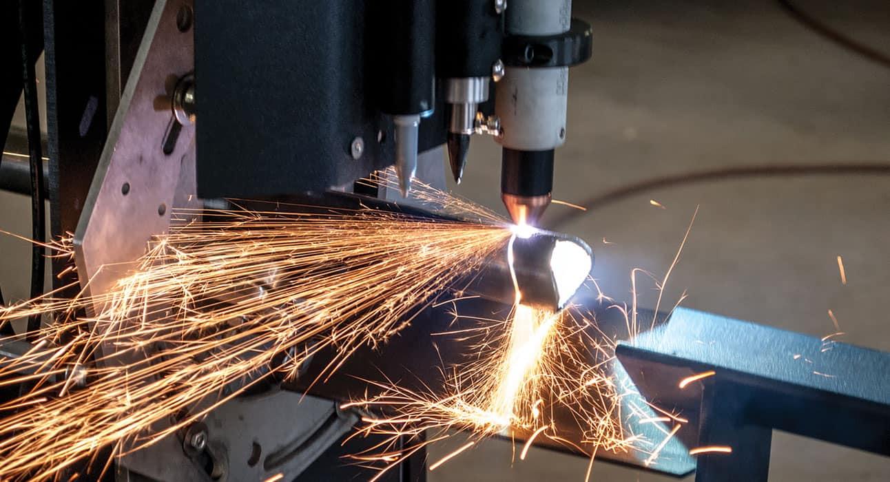 Bend-Tech Dragon CNC Plasma Pipe Cutting Machine in Action