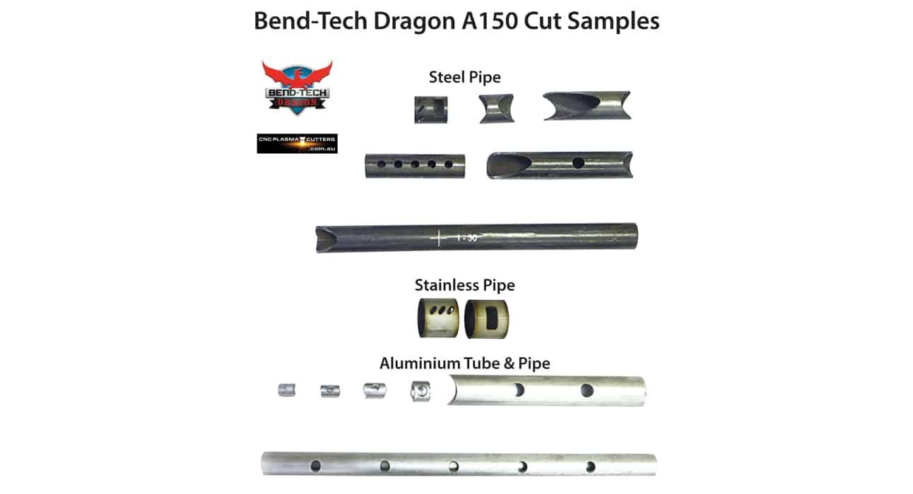 Bend-Tech Dragon A150 CNC Plasma Pipe and Tube Cutting Machine Cut Samples