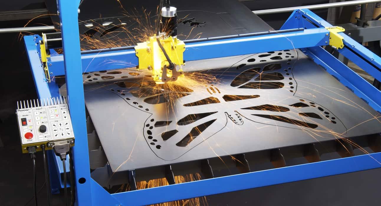 CNC Plasma Cutters PlasmaCam cutting in action