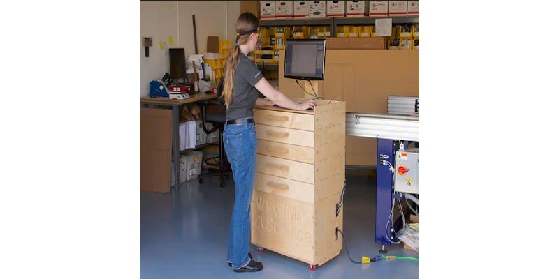 CNC Furniture Rolling Desk Workstation Cart
